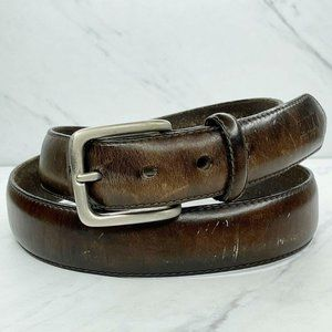 Nautica Brown Thick Genuine Leather Belt Size 40